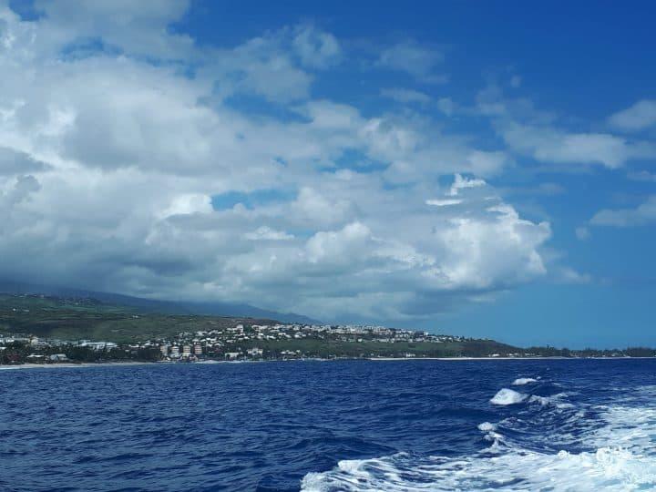 Le grand bleu de l'île de la Réunion avec la menace des requins