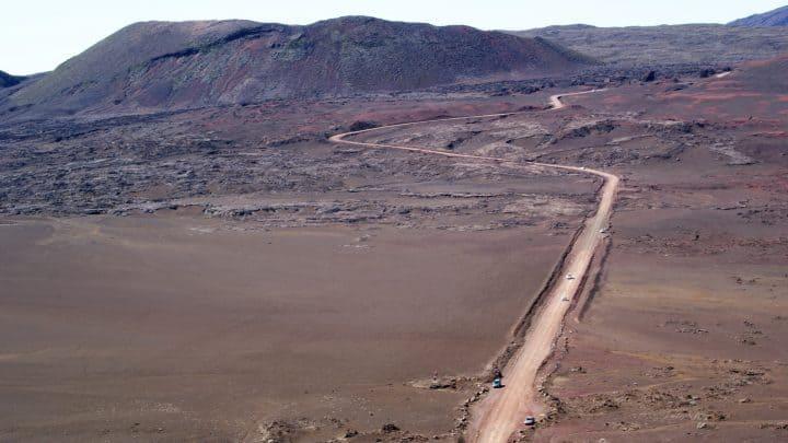 Le sol volcanique à la Réunion